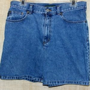 Lauren Ralph Lauren Jean Shorts Blue Denim Cotton